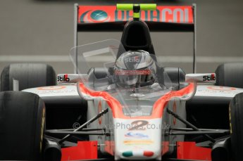 © Octane Photographic Ltd. 2011. Belgian Formula 1 GP, GP2 Race 2 - Sunday 28th August 2011. Julian Leal, Team Rapax, looking in his mirror. Digital Ref : 0205cb1d0036