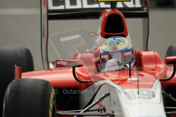 © Octane Photographic Ltd. 2011. Belgian Formula 1 GP, GP2 Race 2 - Sunday 28th August 2011. Luca Filippi of Scuderua Coloni steering into the corner. Digital Ref : 0205cb1d0058