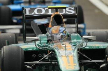 © Octane Photographic Ltd. 2011. Belgian Formula 1 GP, GP2 Race 2 - Sunday 28th August 2011.  Lotus ART driver Esteban Gutierrez lines up in a queue to head out Race 2. Digital Ref : 0205cb1d0081