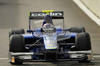 © Octane Photographic Ltd. 2011. Belgian Formula 1 GP, GP2 Race 2 - Sunday 28th August 2011. Carlin driver, Oliver Turvey heads out the pits to the grid. Digital Ref : 0205cb1d0112