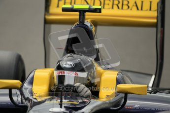 © Octane Photographic Ltd. 2011. Belgian Formula 1 GP, GP2 Race 2 - Sunday 28th August 2011. Adam Carroll of Super Nova Racing heads to the grid. Digital Ref : 0205cb1d0140