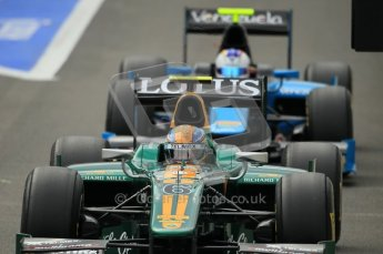 © Octane Photographic Ltd. 2011. Belgian Formula 1 GP, GP2 Race 2 - Sunday 28th August 2011. Esteban Gutierrez of Lotus ART lining up on the pit line waiting to head out on the grid. Digital Ref : 0205cb1d0147