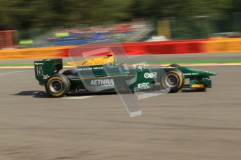 © Octane Photographic Ltd. 2011. Belgian Formula 1 GP, GP2 Race 2 - Sunday 28th August 2011. Jules Bianchi of Lotus ART racing past the start line. Digital Ref : 0205cb7d0045