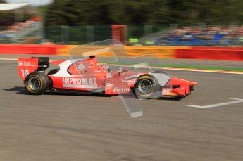 © Octane Photographic Ltd. 2011. Belgian Formula 1 GP, GP2 Race 2 - Sunday 28th August 2011. Josef Krai of Arden International races past the grid boxes on the 1st lap. Digital Ref : 0205cb7d0060