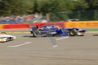 © Octane Photographic Ltd. 2011. Belgian Formula 1 GP, GP2 Race 2 - Sunday 28th August 2011. Max Chilton of Carlin racing along the pit straight. Digital Ref : 0205cb7d0073