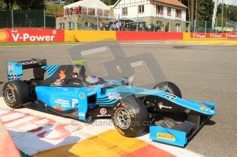 © Octane Photographic Ltd. 2011. Belgian Formula 1 GP, GP2 Race 2 - Sunday 28th August 2011. Johnny Cecotto, Jr of Ocean Racing Technology taking a tight line around La Source. Digital Ref : 0205cb7d0103
