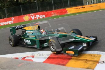 © Octane Photographic Ltd. 2011. Belgian Formula 1 GP, GP2 Race 2 - Sunday 28th August 2011. Jules Bianchi of Lotus ART takes a tight line in La Source. Digital Ref : 0205cb7d0317