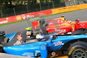 © Octane Photographic Ltd. 2011. Belgian Formula 1 GP, GP2 Race 2 - Sunday 28th August 2011. Dani Clos of Racing Engineering fights for position at La Source. Digital Ref : 0205cb7d0319