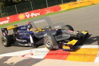 © Octane Photographic Ltd. 2011. Belgian Formula 1 GP, GP2 Race 2 - Sunday 28th August 2011. Super Nova Racing driver of Fairuz Fauzy taking a tight racing line around La Source. Digital Ref : 0205cb7d0327