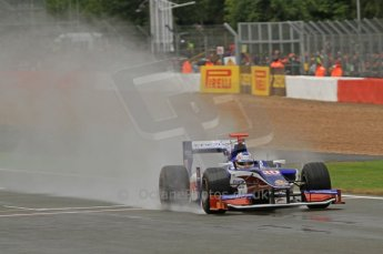 World © Octane Photographic Ltd. 2011. British GP, Silverstone, Saturday 9th July 2011. GP2 Practice Session Pit Lane. Rodolfo González - Trident Racing Digital Ref: 0108LW7D5908