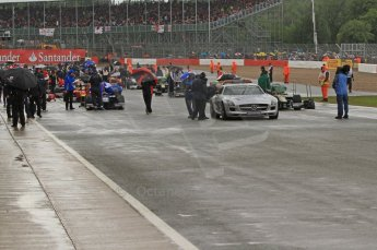 World © Octane Photographic Ltd. 2011. British GP, Silverstone, Saturday 9th July 2011. GP2 Race 1 - Lining up on Grid. Digital Ref: 0109LW7D6163