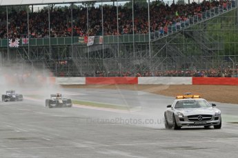 World © Octane Photographic Ltd. 2011. British GP, Silverstone, Saturday 9th July 2011. GP2 Race 1 - Race underway under safety car. Digital Ref: 0109LW7D6172