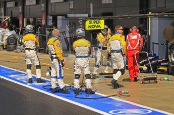 World © Octane Photographic Ltd. 2011. British GP, Silverstone, Saturday 9th July 2011. GP2 Race 1. Super Nova Pit Crew Digital Ref: 0109LW7D6246