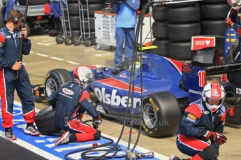World © Octane Photographic Ltd. 2011. British GP, Silverstone, Saturday 9th July 2011. GP2 Race 1. Marcus Ericsson - iSport International in Pit Stop Action. Digital Ref: 0109LW7D6274