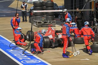 World © Octane Photographic Ltd. 2011. British GP, Silverstone, Saturday 9th July 2011. GP2 Race 1. Arden International Pit Stop Action. Digital Ref: 0109LW7D6515