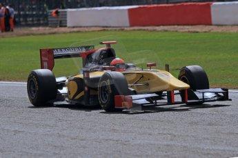 World © Octane Photographic Ltd. 2011. British GP, Silverstone, Saturday 9th July 2011. GP2 Race 1. Romain Grosjean - DAMS. Digital Ref: 0109LW7D6558