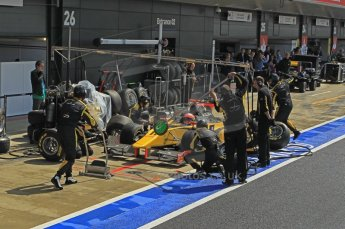World © Octane Photographic Ltd. 2011. British GP, Silverstone, Saturday 9th July 2011. GP2 Race 1. DAMS Pit Stop in Action. Digital Ref: 0109LW1D2521
