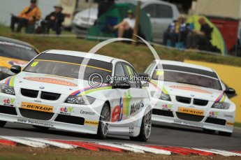 © Octane Photographic Ltd. 2011. British Touring Car Championship – Snetterton 300, Rob Collard leads Nick Foster - BMW320i - WSR. Saturday 6th August 2011. Digital Ref : 0121CB7D9493