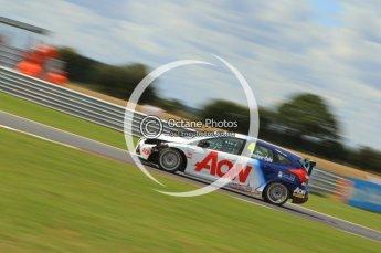 © Octane Photographic Ltd. 2011. British Touring Car Championship – Snetterton 300, Tom Onslow-Cole - Ford Focus - Team Aon. Sunday 7th August 2011. Digital Ref : 0124CB7D0006
