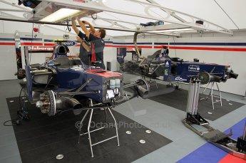 © Octane Photographic Ltd. 2011. European Formula1 GP, Friday 24th June 2011. GP2 Practice. iSport International garage. Digital Ref: 0082CB1D6146