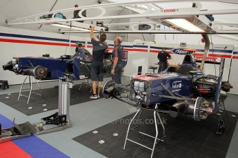© Octane Photographic Ltd. 2011. European Formula1 GP, Friday 24th June 2011. GP2 Practice. iSport International garage. Digital Ref: 0082CB1D6148