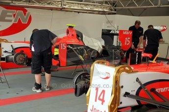 © Octane Photographic Ltd. 2011. European Formula1 GP, Friday 24th June 2011. GP2 Practice. Arden International garage. Digital Ref: 0082CB1D6153