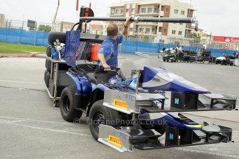 © Octane Photographic Ltd. 2011. European Formula1 GP, Friday 24th June 2011. GP2 Practice. Carlin's mobile garage. Digital Ref: 0082CB1D6167