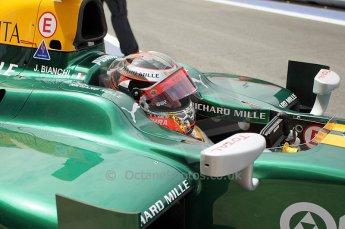 © Octane Photographic Ltd. 2011. European Formula1 GP, Friday 24th June 2011. GP2 Practice. Jules Bianchi - Lotus ART. Digital Ref: 0082CB1D6241