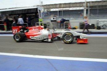 © Octane Photographic Ltd. 2011. European Formula1 GP, Friday 24th June 2011. GP2 Practice. Davide Valsecchi - Caterham team AirAsia. Digital Ref: 0082CB1D6280
