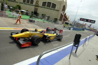 © Octane Photographic Ltd. 2011. European Formula1 GP, Friday 24th June 2011. GP2 Practice. Romain Grosjean - Dams. Digital Ref: 0082CB1D6322
