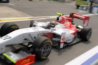 © Octane Photographic Ltd. 2011. European Formula1 GP, Friday 24th June 2011. GP2 Practice. Davide Valsecchi - Caterham Team AirAsia. Digital Ref: 0082CB1D6379