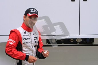 © Octane Photographic Ltd. 2011. European Formula1 GP, Friday 24th June 2011. Formula 1 paddock. Timo Glock - Marussia Virgin Racing Digital Ref:  0086LW7D5954