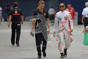 © Octane Photographic Ltd. 2011. European Formula1 GP, Friday 24th June 2011. Formula 1 paddock. Lewis Hamilton - Vodafone McLaren Racing Digital Ref:  0086LW7D6099