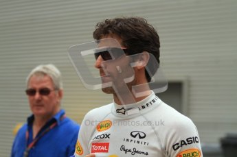 © Octane Photographic Ltd. 2011. European Formula1 GP, Friday 24th June 2011. Formula 1 paddock. Mark Webber - Red Bull Racing Digital Ref:  0086LW7D6147