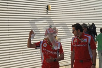 © Octane Photographic Ltd. 2011. European Formula1 GP, Saturday 25th June 2011. Formula 1 paddock. Ferrari Team Members Digital Ref:  0087LW7D6233
