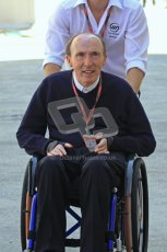 © Octane Photographic Ltd. 2011. European Formula1 GP, Saturday 25th June 2011. Formula 1 paddock. Sir Frank Williams - AT&T Williams Digital Ref: 0087LW7D6248