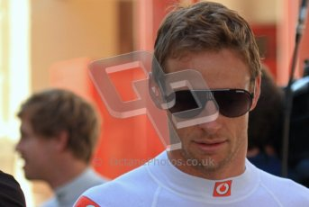 © Octane Photographic Ltd. 2011. European Formula1 GP, Saturday 25th June 2011. Formula 1 paddock. Jenson Button. - Vodafone McLaren Mercedes Digital Ref: 0087LW7D6253