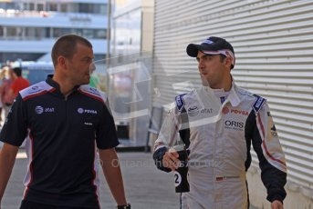 © Octane Photographic Ltd. 2011. European Formula1 GP, Saturday 25th June 2011. Formula 1 paddock. Pastor Maldonado - AT&T Williams Digital Ref:  0087LW7D6274