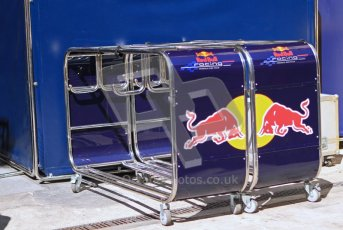© Octane Photographic Ltd. 2011. European Formula1 GP, Saturday 25th June 2011. Formula 1 paddock. Red Bull Racing Tire Trolley Digital Ref:  0087LW7D6374