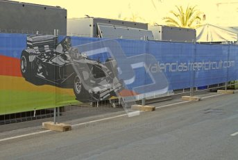 © Octane Photographic Ltd. 2011. European Formula1 GP, Saturday 25th June 2011. Formula 1 paddock. Valencia F1 Poster Digital Ref:  0087LW7D6380