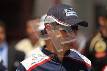 © Octane Photographic Ltd. 2011. European Formula1 GP, Sunday 26th June 2011. F1 Paddock Sunday. Rubens Barrichello - AT&T Williams Digital Ref: 0089LW7D6435