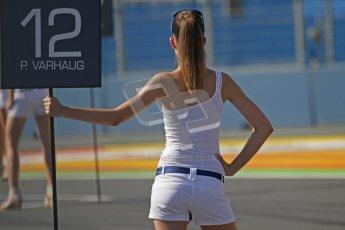 © Octane Photographic Ltd. 2011. European Formula1 GP, Sunday 26th June 2011. Pål Varhaug - DAMS Grid Girl. GP2 Sunday race. Digital Ref:  0090CB1D8980