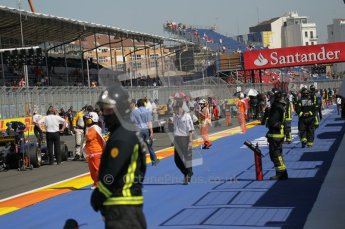 © Octane Photographic Ltd. 2011. European Formula1 GP, Sunday 26th June 2011. GP2 Sunday race. Forming Up on Grid. Digital Ref:  0090CB1D9134