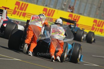 © Octane Photographic Ltd. 2011. European Formula1 GP, Sunday 26th June 2011. GP2 Sunday race. Safety Pit Crew helping with Start. Digital Ref:  0090CB1D9161