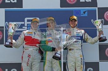 © Octane Photographic Ltd. 2011. European Formula1 GP, Sunday 26th June 2011. GP2 Sunday race. Race 2 Podium, Esteban Gutiérrez - Lotus ART, Luiz Razia - Caterham Team AirAsia, Giedo Van Der Garde - Barwa Addax Team.  Digital Ref:  0090CB1D9608