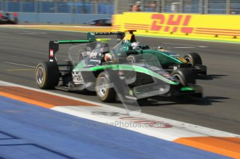 © Octane Photographic Ltd. 2011. European Formula1 GP, Sunday 26th June 2011. GP3 Sunday race. Antonio Felix de Costa - Status Grand Prix leads Pedro Nunes - Lotus ART. Digital Ref:  0091CB1D8824