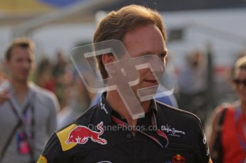 © Octane Photographic Ltd. 2011. Formula 1 World Championship – Italy – Monza – 11th September 2011. Race Day in the Paddock. Christian Horner walking into the paddock before the race. Digital Ref : 0193LW7D6255