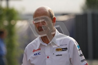 © Octane Photographic Ltd. 2011. Formula 1 World Championship – Italy – Monza – 11th September 2011. Race Day in the Paddock. Peter Sauber in the track before the race. Digital Ref : 0193LW7D6272