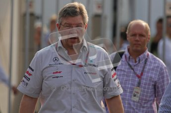 © Octane Photographic Ltd. 2011. Formula 1 World Championship – Italy – Monza – 11th September 2011. Race Day in the Paddock. Ross Brawn in the paddock before the race. Digital Ref : 0193LW7D6303