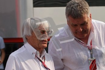 © Octane Photographic Ltd. 2011. Formula 1 World Championship – Italy – Monza – 11th September 2011. Race Day in the Paddock. Bernie Ecclestone, F1 Supremo in the paddock before the race. Digital Ref : 0193LW7D6571